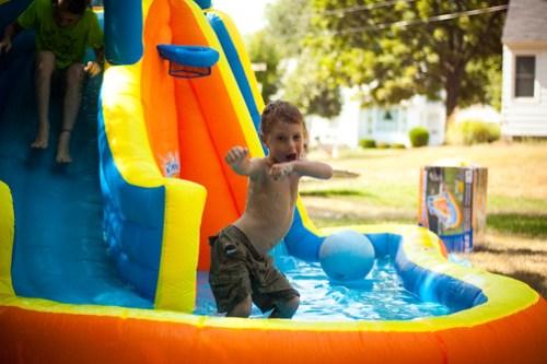 Around the yard: fun in the sun
