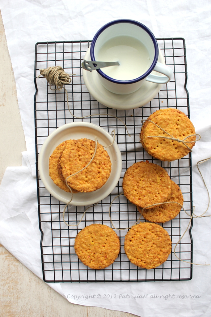 Sablé alle carote - Carrot cookies