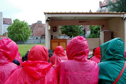 openluchttheater in de regen