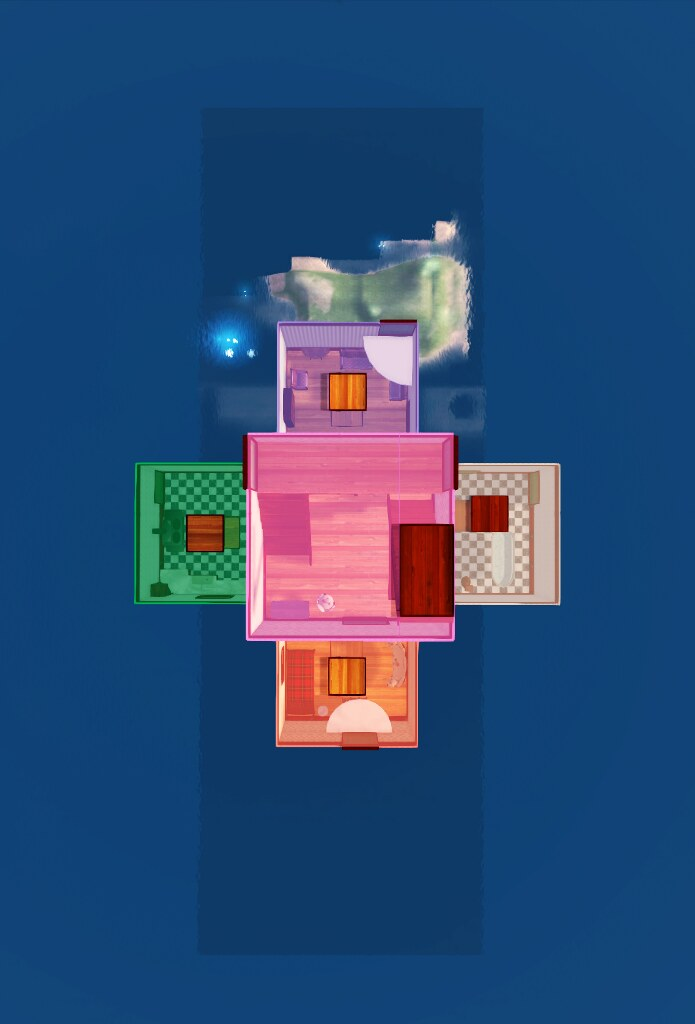 The house seen from above