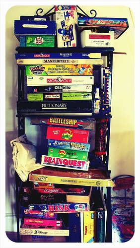 Community Center board game pile