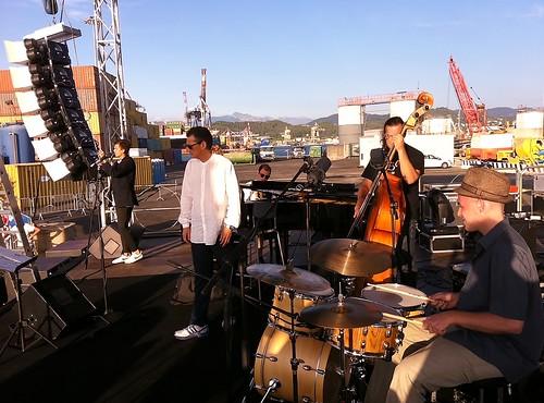 Sound check di Gege Telesforo Festival Internazionale del Jazz di La Spezia by cristiana.piraino