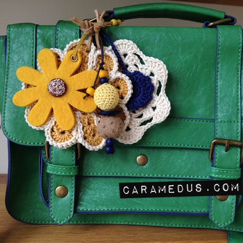 My new satchel with prettification by Cara Medus