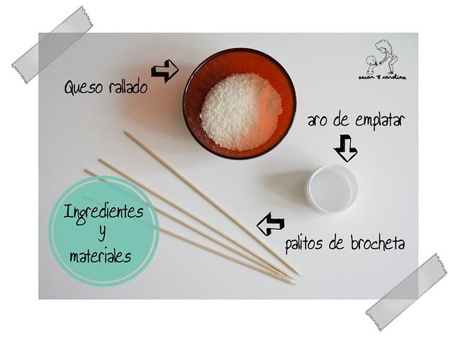 Ingredientes piruletas de parmesano