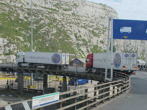 Kersey Freight Convoy Coming Out of Dover Docks