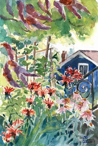 Garden & Blue House 2