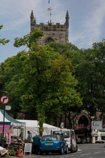 View of Holy Trinity Church from Skipton high street