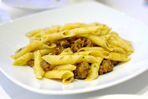 i garganelli garganelli, pork sausage, parmesan, fennel seeds