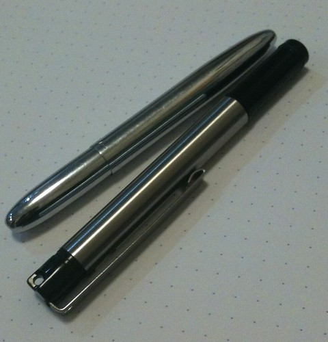 F301 Compact vs. Bullet Space Pen–Capped