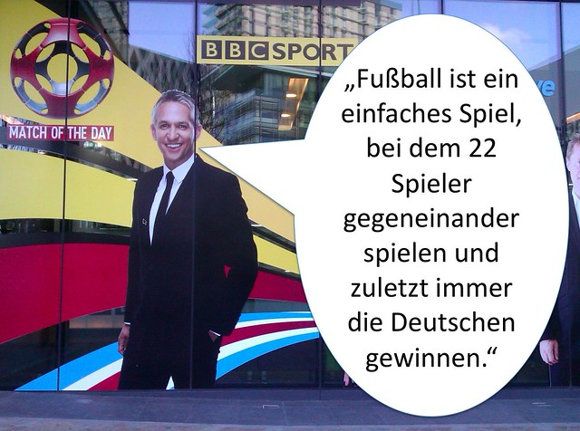 """Football is a simple game; 22 men chase a ball for 90 minutes and at the end, the Germans always win"" --Gary Lineker"