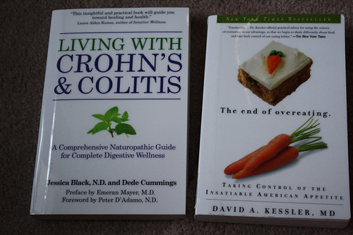 Crohns and Colitis book and The End of Overeating
