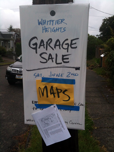 Whittier Heights Garage Sale Maps