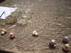 Whisky bottle cork stoppers. Whisky Live Singapore 2012, St. Regis Hotel