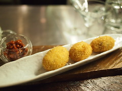 Dada croquettes with some miso thing. Foodbar Dada, 60 Robertson Quay