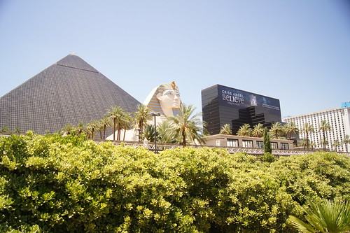 Luxor Pyramid with Sphinx and Tower