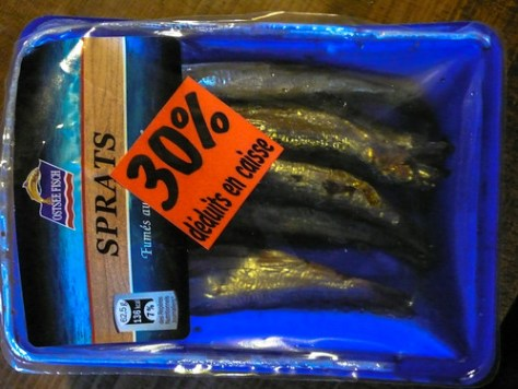 Smoked sprats bought at the Lidl