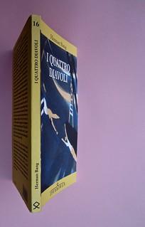 Herman Bang, I quattro diavoli, Iperborea 2012. [resp. grafica non indicata]. Quarta di copertina, dorso, copertina (part.), 1
