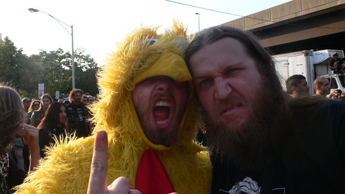 Chicken Man and Metal Chris