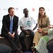 Prime Minister David Cameron and Melinda Gates talk about family planning issues and volunteering with young people at the London Summit on Family Planning