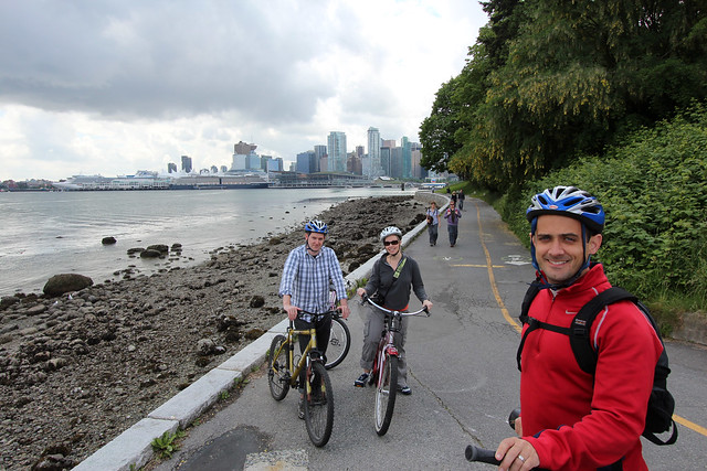 Riding bikes in Stanley Park