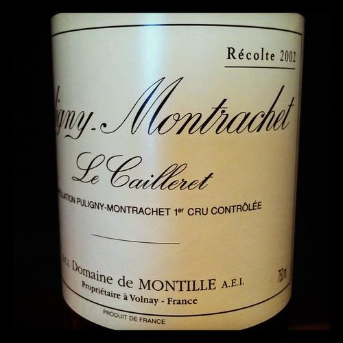 Domaine de Montille Puligny-Montrache Le Cailleret 2002