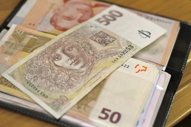 Monday: Czech money is so pretty.