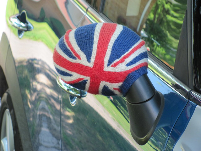 MINI Cooper rear view mirror cozy, take 2