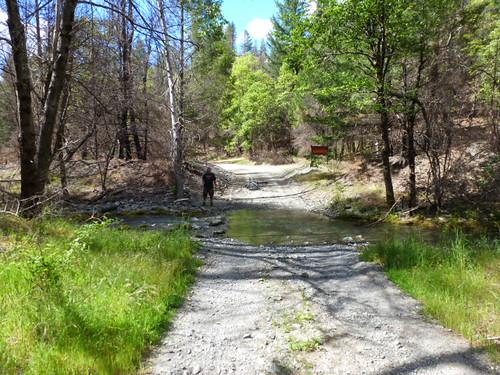5-26-12 CA - Ruth Lake 45 Bike Ride Dave at Creek