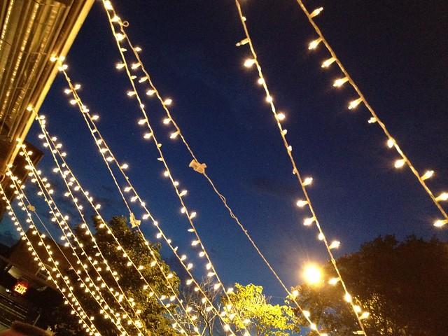 Strings of light, Mad River Bar