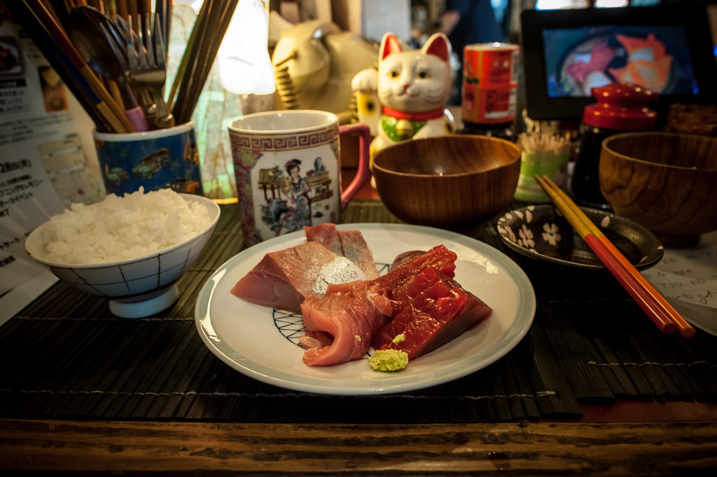 Sashimi plate at Yonehana