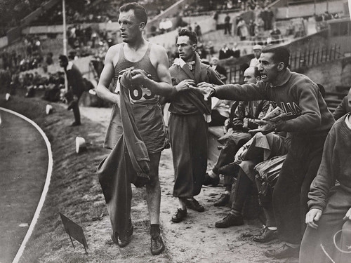 French athlete disqualified at the Olympics, London, 1948.