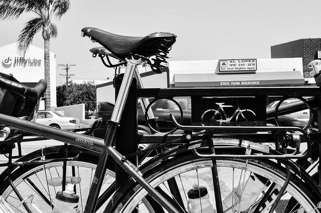 Bike parking in Glendale