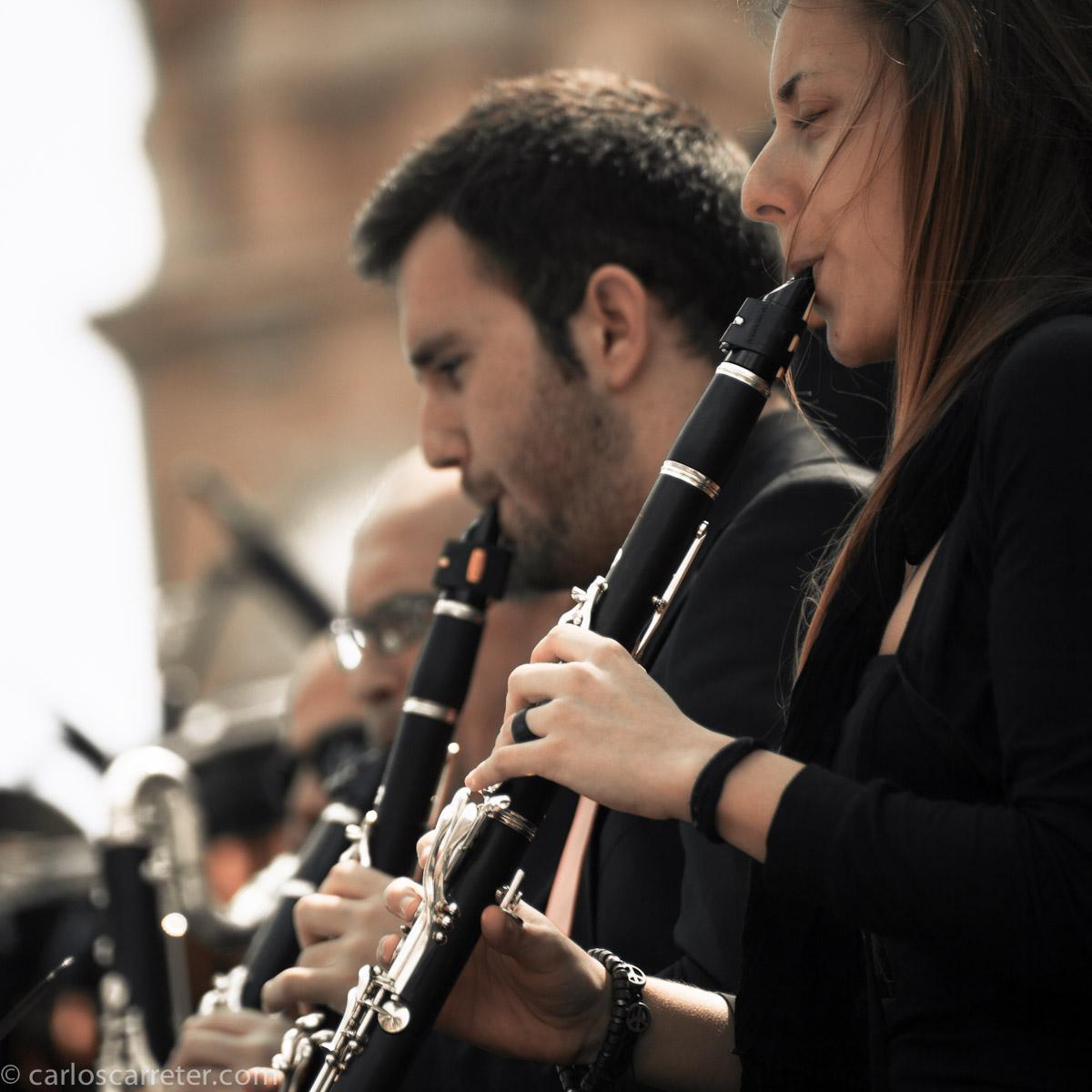 Banda sinfónica del CSMA en el Pilar