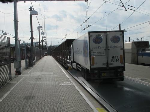 K19 KFL Driving onto Eurotunnel