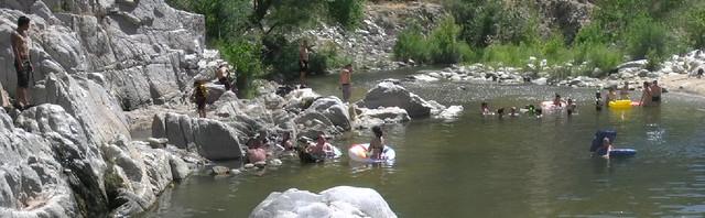 055 Crowded Beach At Deep Creek Hot Springs