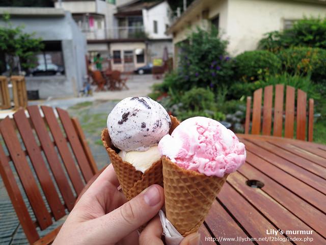 就是明治冰淇淋了,幸福3號的小庭園很可愛,可是好像完全沒整理好。