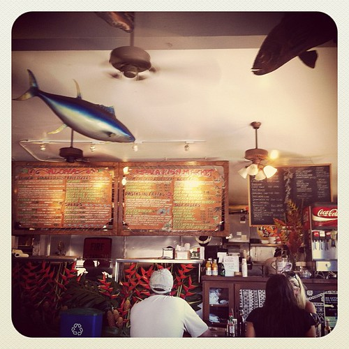 Scott's favorite place in Maui... Paia Fish Market