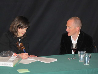 Joyce interviews Chris Cleave in the Geodome