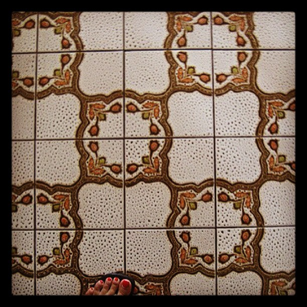 Vintage tile floor