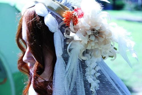 Art Nouveau Veil and Headdress