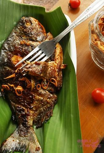 resep bumbu ikan bawal bakar