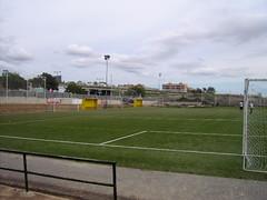 Campo de fútbol tras la lluvia