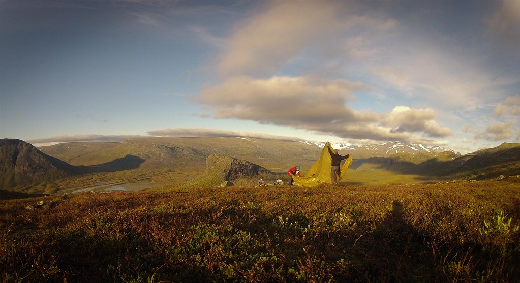 Bivaouc on the Skierfe-ridge, Sarek NP in full autumn glory