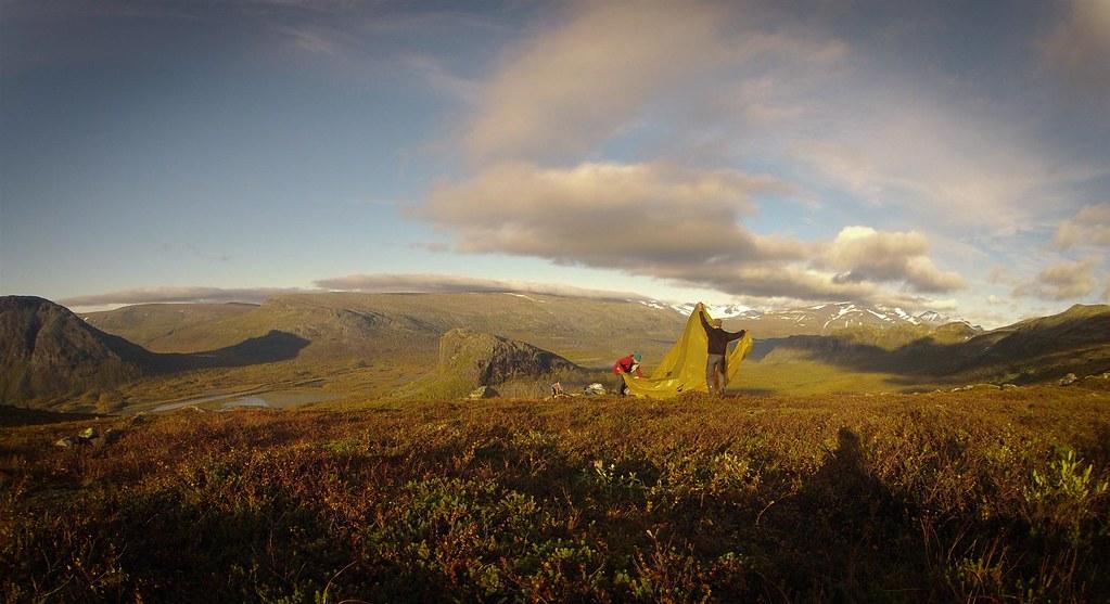 Bivaouc on the Skierfe-ridge, Sarek NP in full autumn glory
