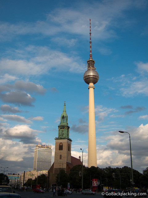 The Fernsehturm television tower