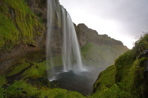 Climbing at Seljalandsfoss