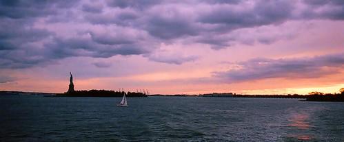 Statue of Liberty Sunset by Six Sigma Man