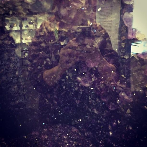 Reflection in amethyst