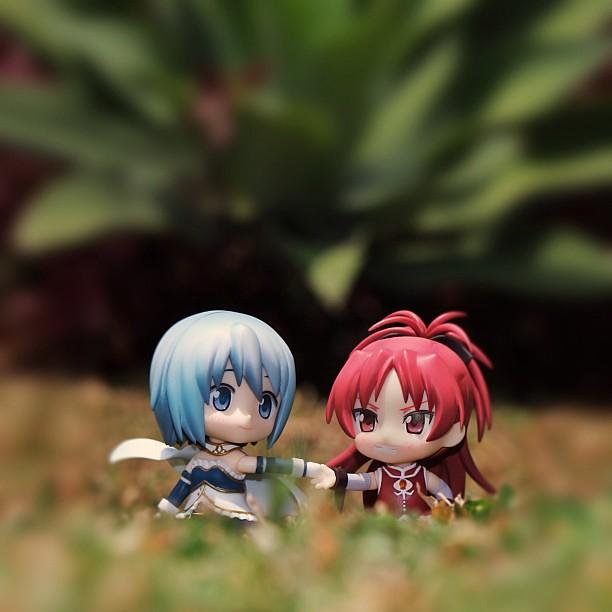 Sayaka Miki and Sakura Kyoko by fardian