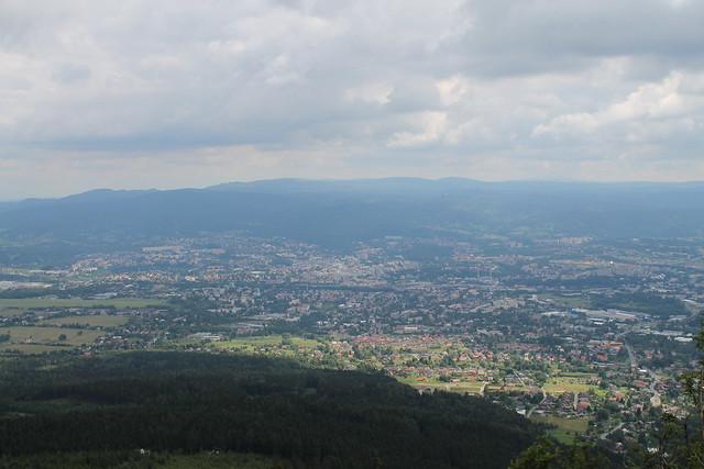 Liberec, from Ještěd